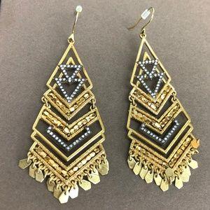 Stella & Dot Horizon Pave Crystals Earrings